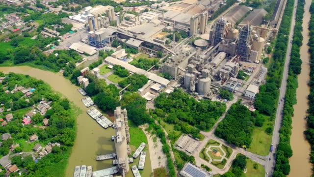 aerial view of cement factory - capturing an image stock videos and b-roll footage