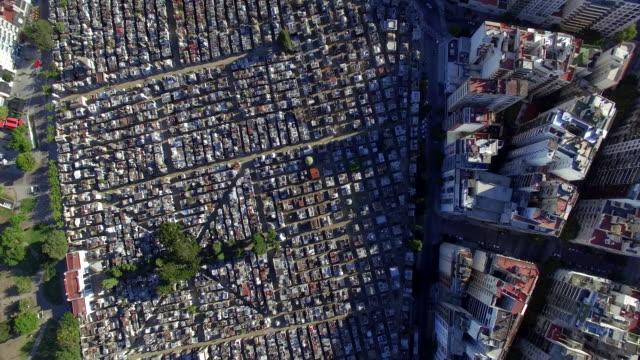 Aerial view of cemetery de la recoleta Buenos Aires Argentina
