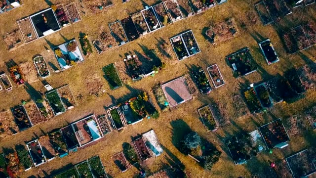 aerial view of cemetery - germany - cemetery stock videos & royalty-free footage