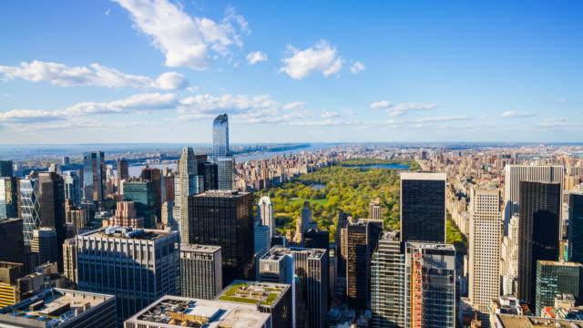 Luftaufnahme des Central Park in Manhattan, New York City