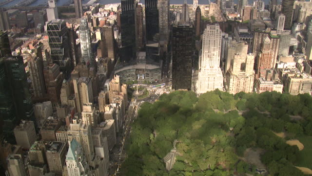 aerial view of central park - central park manhattan stock videos & royalty-free footage