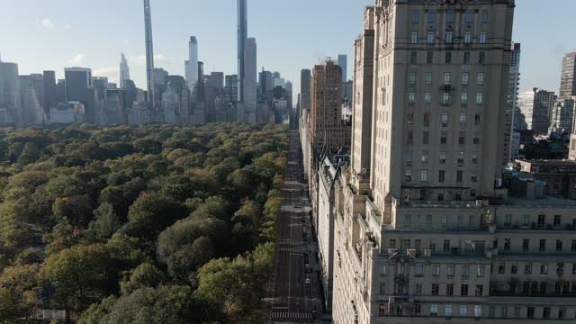 aerial view of central park west in new york city - establishing shot stock videos & royalty-free footage