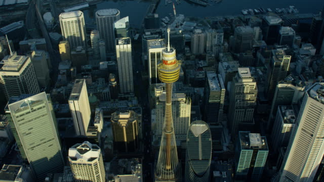 Aerial view of Centrepoint Tower in Sydney Australia