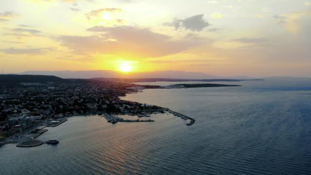aerial view of cesme ilıca - izmir stock videos & royalty-free footage