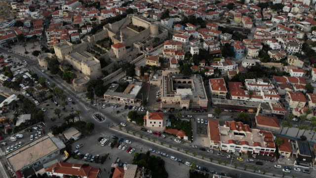 aerial view of cesme - izmir stock videos & royalty-free footage