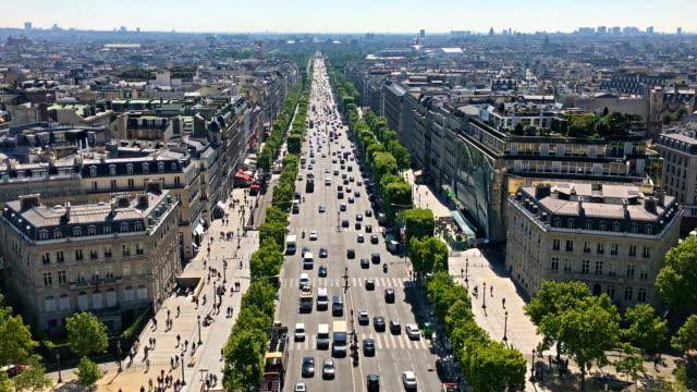 Vue aérienne de Champs Elysées