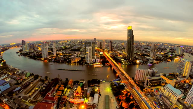 aerial view of chao phra ya river in bangkok thailand - bangkok stock videos & royalty-free footage