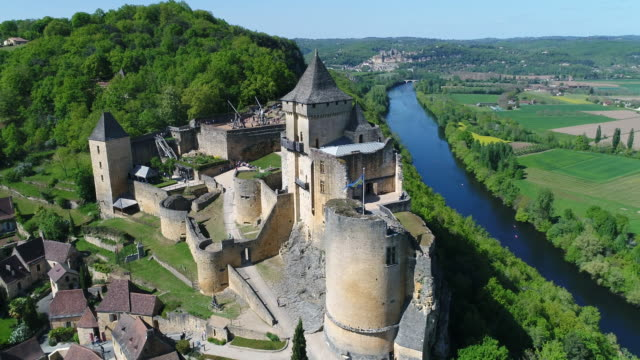Aerial view of Chateau de Castelnaud la chapelle