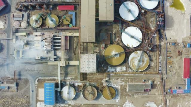 化学プラントの空中写真 - 石油点の映像素材/bロール