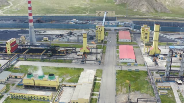 aerial view of chemical plant - industrial district stock videos & royalty-free footage