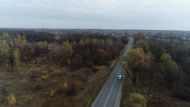 aerial view of chernobyl alienation zone - nuclear power station stock videos & royalty-free footage