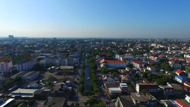 aerial view of chiang mai city - chiang mai city stock videos and b-roll footage