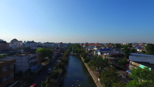 aerial view of chiang mai city - chiang mai province stock videos & royalty-free footage