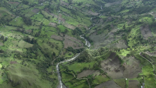 aerial view of chicamocha river and chicamocha canyon in colombia - canyon stock videos & royalty-free footage