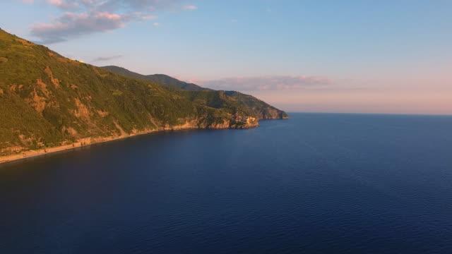 Aerial view of Cinque Terre Coast