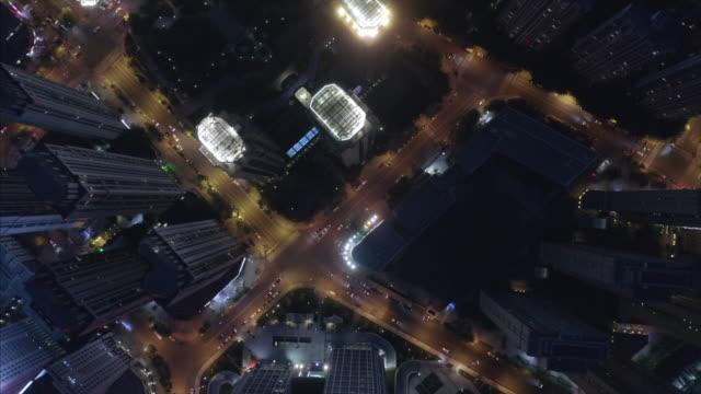 aerial view of city at night - beijing点の映像素材/bロール