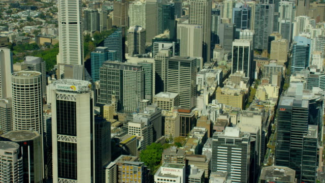 aerial view of city buildings downtown sydney australia - climate stock videos and b-roll footage