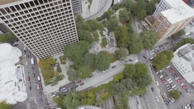 aerial view of city in motion - seattle stock videos & royalty-free footage