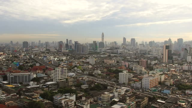 aerial view of city in the morning - personal land vehicle stock videos & royalty-free footage