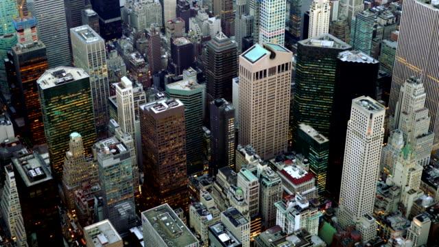 aerial view of city metropolis skyline. urban business district