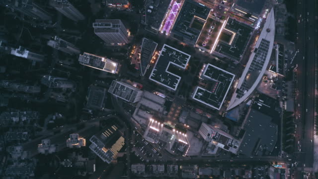 aerial view of city night - 夜点の映像素材/bロール