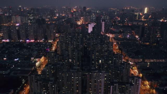 aerial view of city - 高層ビル点の映像素材/bロール