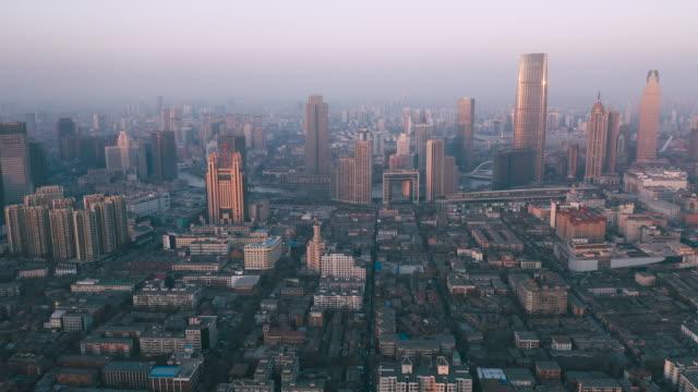 市内の空撮 - 上海点の映像素材/bロール