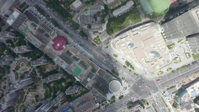 aerial view of city - liyao xie stock videos & royalty-free footage
