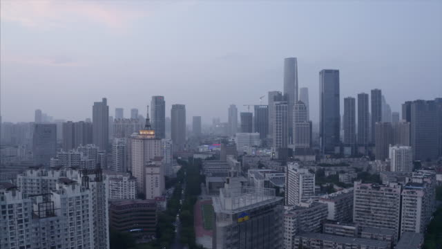 aerial view of city - nanjing road stock videos & royalty-free footage