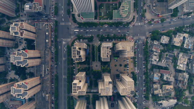 aerial view of city - beijing stock videos & royalty-free footage