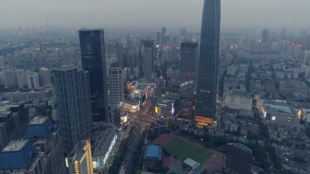 aerial view of city - pechino video stock e b–roll