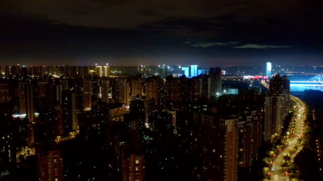 aerial view of citycaspe at night - unmanned aerial vehicle stock videos & royalty-free footage