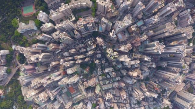 luftaufnahme des stadtbildes in hongkong in china - dschunke stock-videos und b-roll-filmmaterial