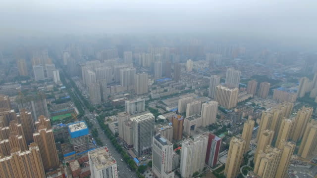 Aerial view of Clouds cover the city,Xi'an,China.
