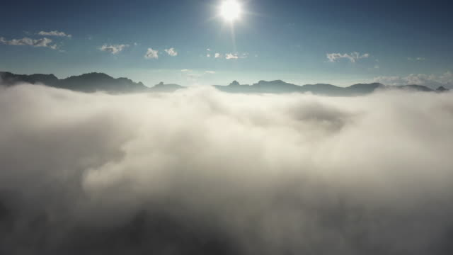aerial view of cloudscape, cloud - zoom in stock videos & royalty-free footage