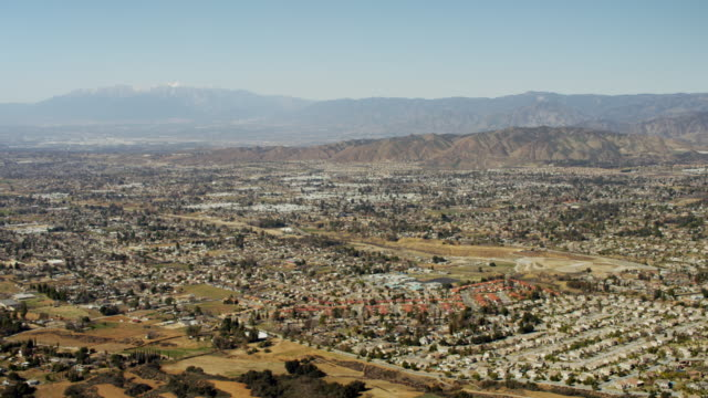 aerial view of coachella valley palm springs usa - palm springs california stock videos & royalty-free footage