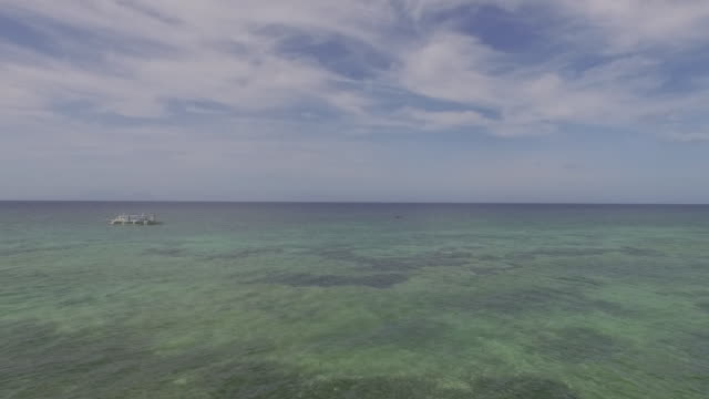 Aerial (drone) view of coastal landscape and ocean