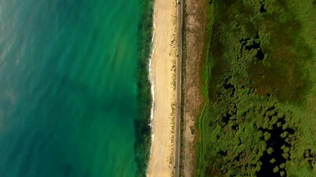 4k aerial view of coastline - alga video stock e b–roll