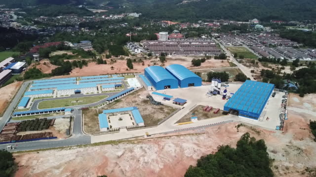 Aerial view of construction site of East Coast Rail Link built by China Communications Construction Co Bentong Pahang Malaysia on Sunday May 2 2019