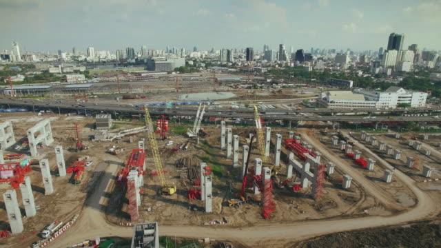 の航空写真工事現場、4 k - 建設現場点の映像素材/bロール