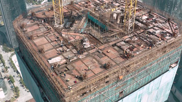 aerial view of construction site,suzhou city,china. - chinese culture stock videos & royalty-free footage