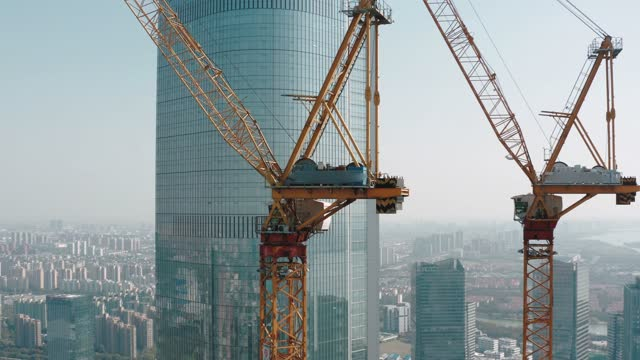 aerial view of construction site,suzhou city,china. - tower stock videos & royalty-free footage