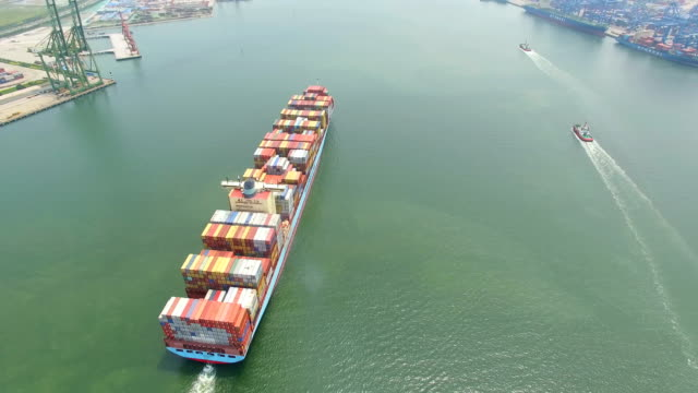 Aerial View of Container Ship/Tianjin,China.