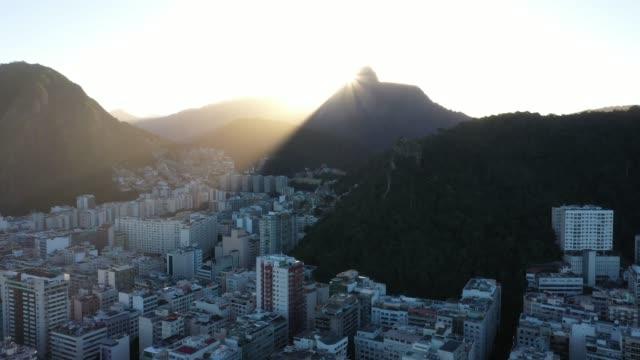 aerial view of copacabana beach in rio de janeiro - rio de janeiro stock videos & royalty-free footage