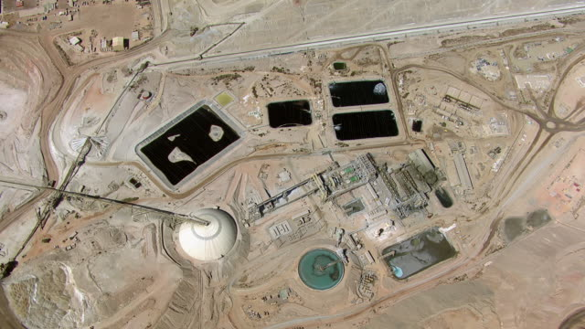 aerial view of copper mine - antofagasta region stock videos and b-roll footage