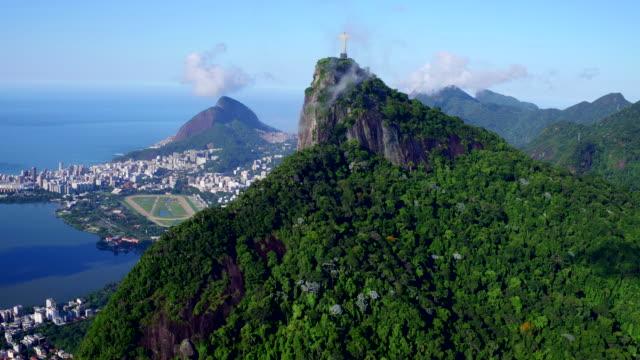 Aerial view of Corcovado at Rio de Janeiro, Brazil