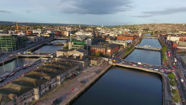 Aerial view of Cork city in Ireland