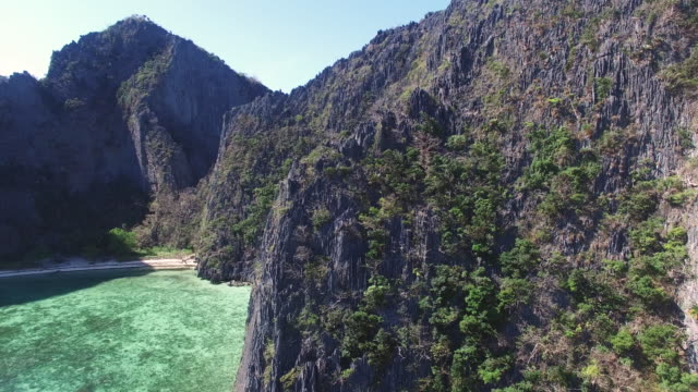 aerial view of coron island, palawan. - limestone stock videos and b-roll footage