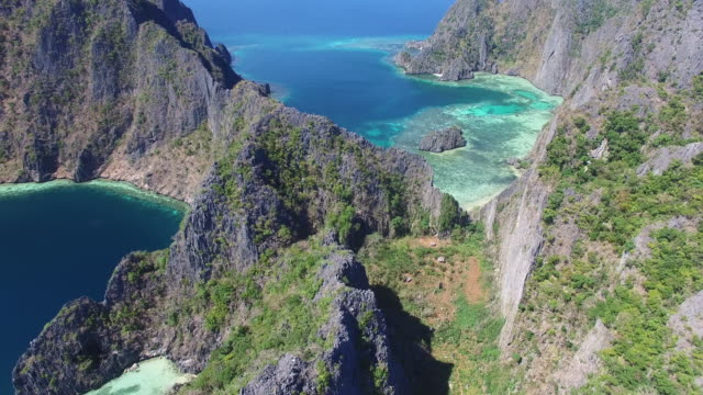 vidéos et rushes de aerial view of coron island, palawan. - philippines
