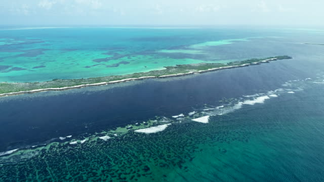 aerial view of cosmoledo atoll in the seychelles - mittag stock-videos und b-roll-filmmaterial